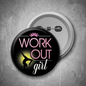 Placka Workout girl (černá)