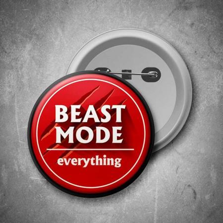 Placka Beast Mode (červená)