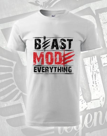 triko Beast Mode Everything - bílá