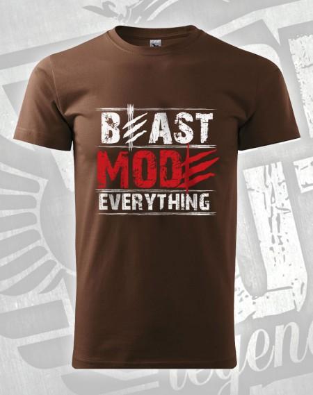 triko Beast Mode Everything - čokoládová