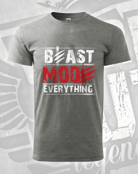 triko Beast Mode Everything - šedý melír (tmavý)