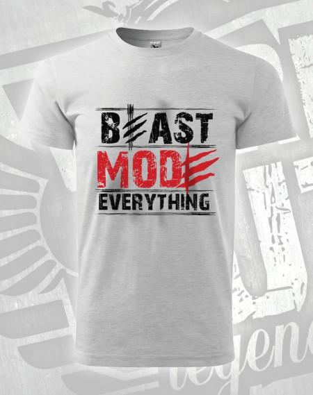 triko Beast Mode Everything - šedý melír (světlý)