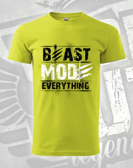 triko Beast Mode Everything - limetková