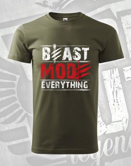 triko Beast Mode Everything - vojenská