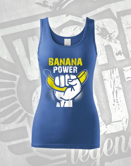 Tílko Banana Power - modrá