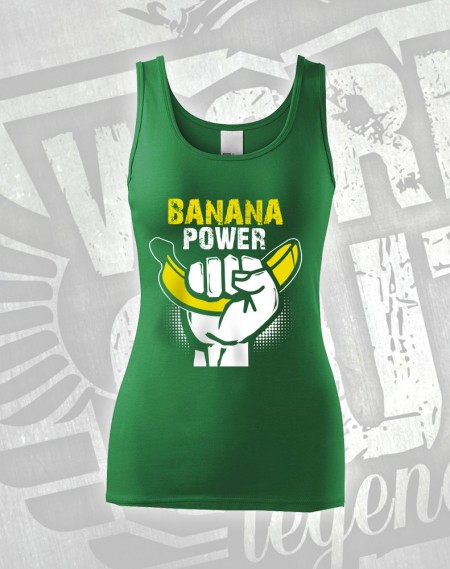 Tílko Banana Power - zelená