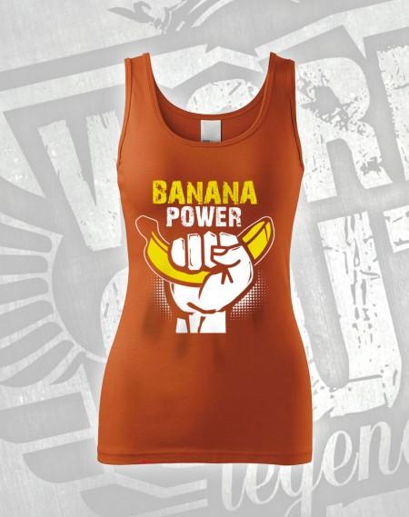 Tílko Banana Power - oranžová