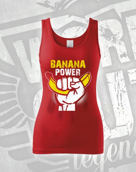 Tílko Banana Power - červená