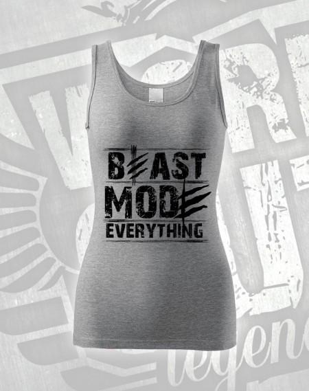 Tílko Beast Everything - šedý melír
