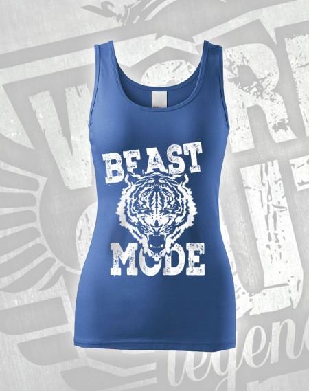 Tílko Beast Mode Tiger - modrá