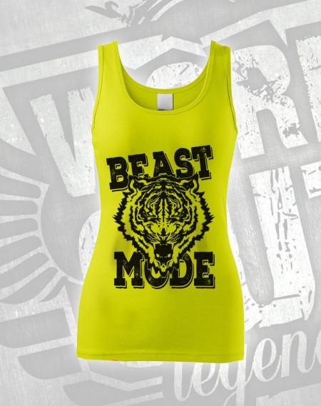 Tílko Beast Mode Tiger - limetková