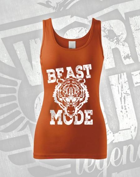 Tílko Beast Mode Tiger - oranžová