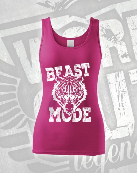 Tílko Beast Mode Tiger - růžová