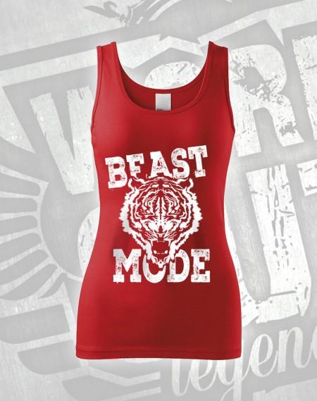 Tílko Beast Mode Tiger - červená