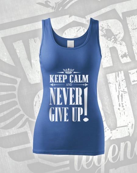 Tílko Never Give Up - modrá