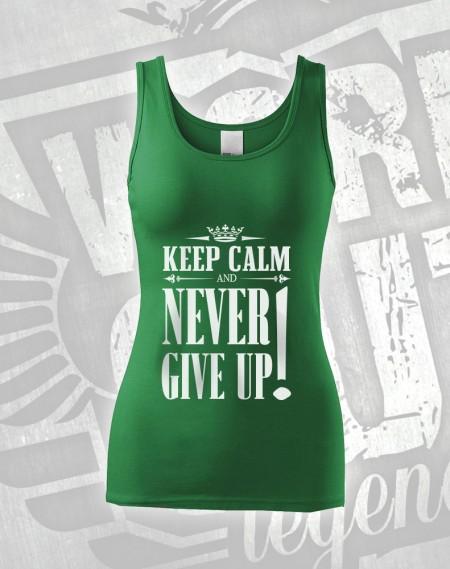 Tílko Never Give Up - zelená