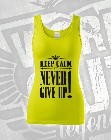 Tílko Never Give Up - limetková