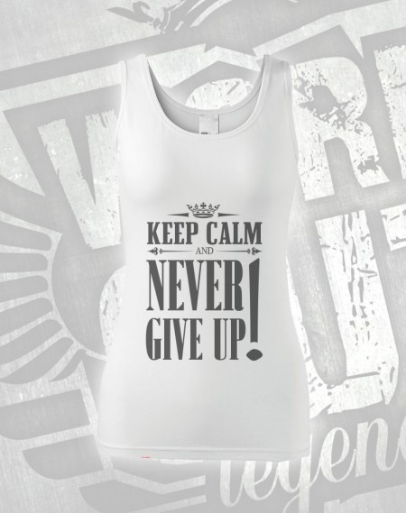 Tílko Never Give Up - bílá