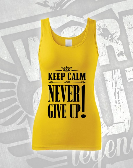 Tílko Never Give Up - žlutá
