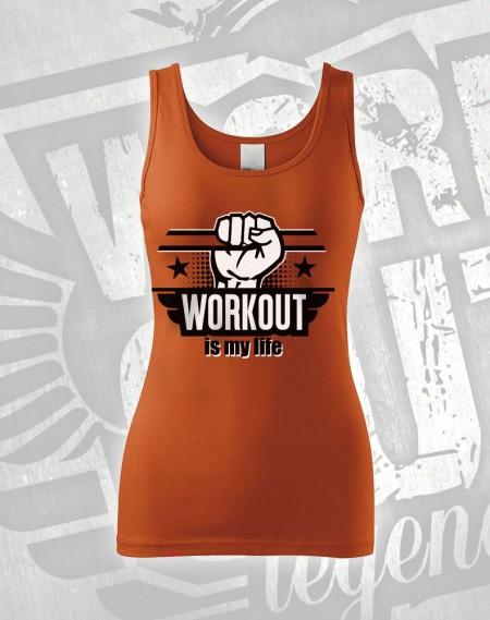 Tílko Workout is my Life - oranžová