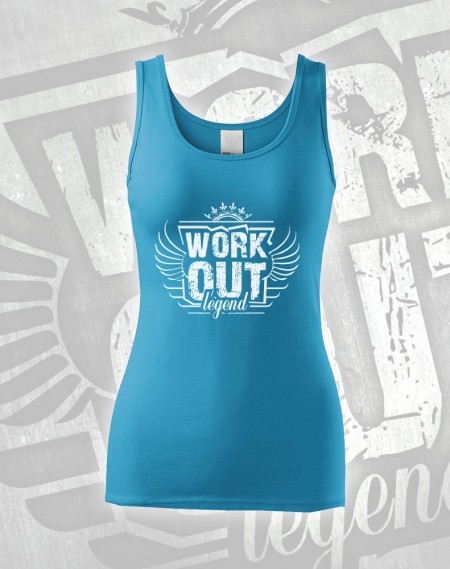 Tílko Workout Legend - azurová