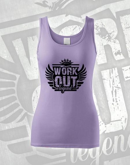 Tílko Workout Legend - světlá fialová