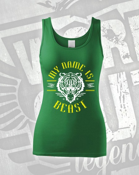 Tílko My Name is Beast - zelená