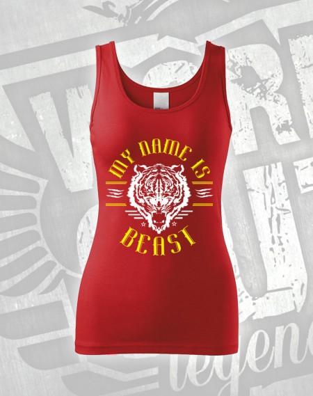 Tílko My Name is Beast - červená