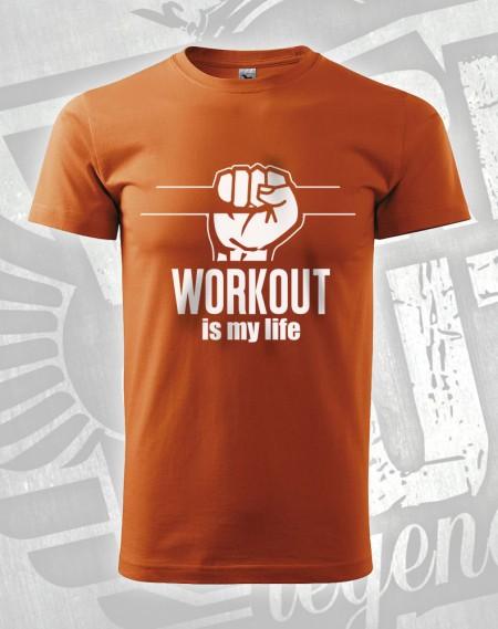 Triko Workout is my Life - oranžová