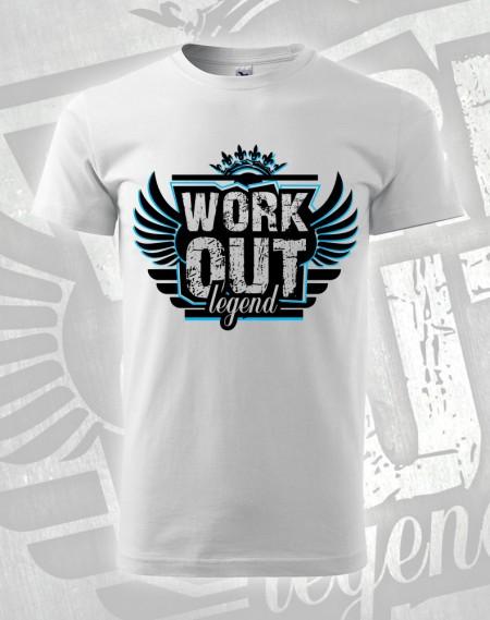 Triko Workout Legend - bílá (modrý potisk)