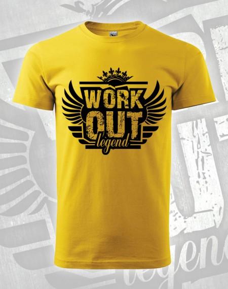 Triko Workout Legend - žlutá