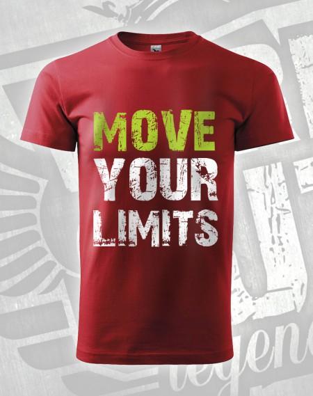 Triko Move your Limits - červená