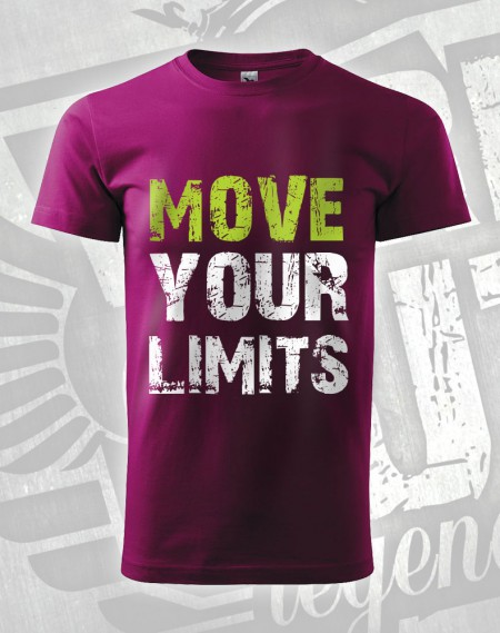 Triko Move your Limits - fuchsiová