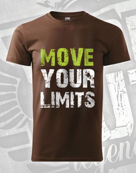 Triko Move your Limits - čokoládová
