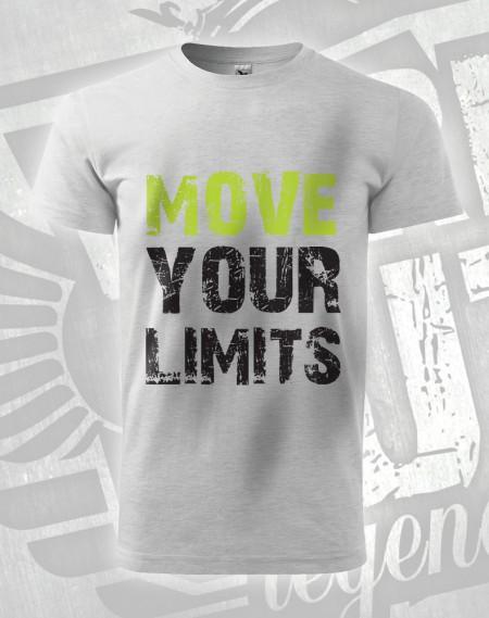Triko Move your Limits - šedý melír (světlý)