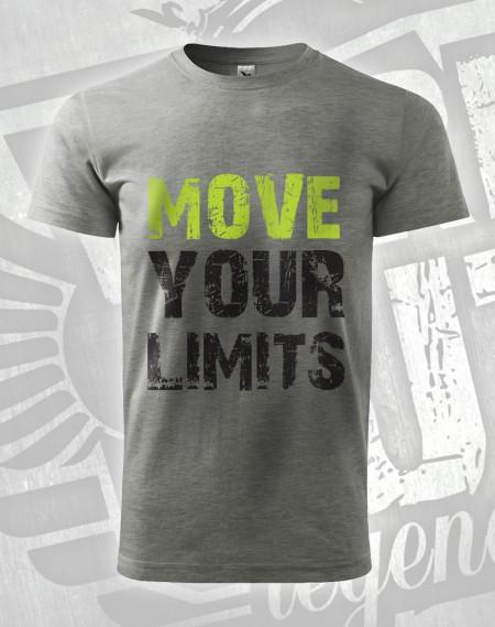 Triko Move your Limits - šedý melír (tmavý)