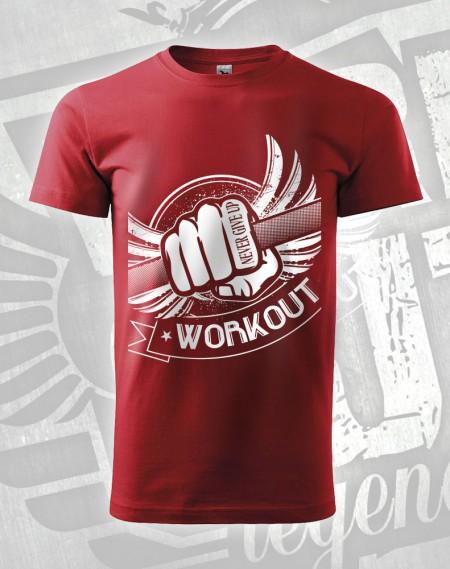 Triko Workout Fist - červená