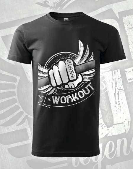 Triko Workout Fist - černá