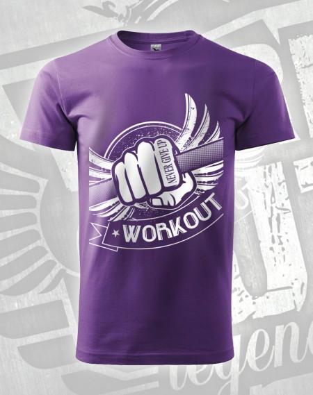 Triko Workout Fist - fialová