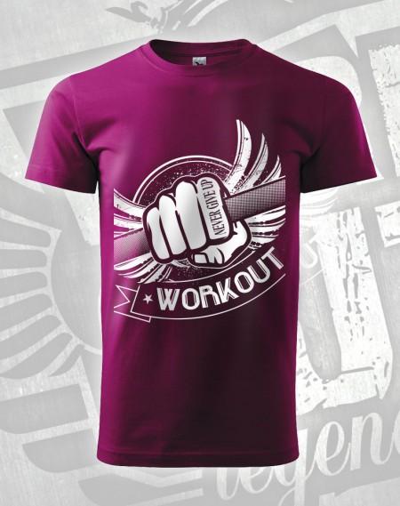 Triko Workout Fist - fuchsiová