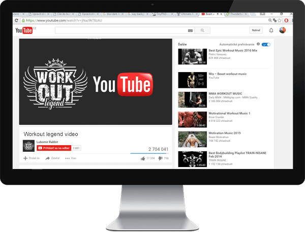 workout legend youtube monitor